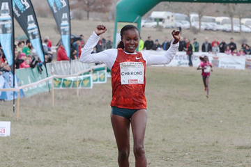 Mercy Cherono wins the women's race (Organisers)