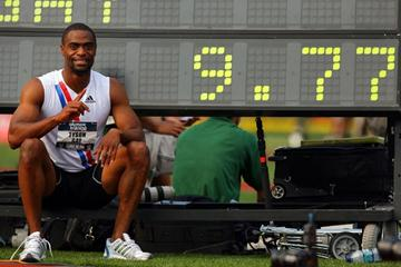 Tyson Gay - 9.77 U.S. record in the quarter-finals (!) in Eugene (Getty Images)