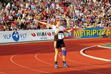 Mikaela Ingberg at 2004 Finnish Championships (P. Noronen)