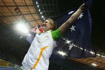 Former World Youth and World Junior Champion, Australia's Dani Samuels is now the women's Discus World Champion at the 12th IAAF World Championships in Athletics in Berlin (Getty Images)