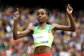 Almaz Ayana wins the 10,000m at the Rio 2016 Olympic Games (Getty Images)
