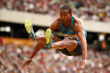 Christian Taylor at the IAAF Diamond League meeting in London (Getty Images)