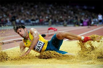 Long jumper Mitchell Watt in action at the London 2012 Olympic Games (Getty images)