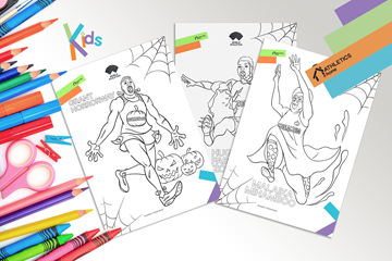 Athletics @ Home - Halloween colouring in (Christel Saneh)