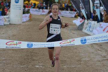 Fionnuala McCormack winning the 2016 Cross Internacional de la Constitucion in Alcobendas (Fundación ANOC)