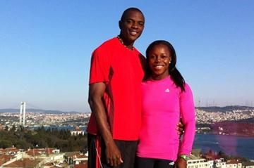 Veronica Campbell-Brown and husband Omar in Istanbul (Claude Bryan)