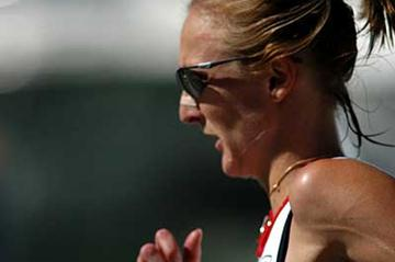 Paula Radcliffe in action (IAAF)