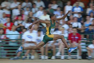 Godfrey Khotso Mokoena of South Africa wins the Men's Triple Jump Final (Getty Images)