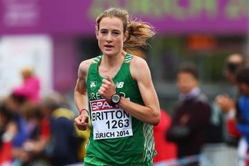 Fionnuala Britton in the 2014 European Championships marathon (Getty Images)