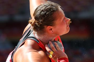 Christina Schwanitz in shot put qualifying at the IAAF World Championships, Beijing 2015 (Getty Images)