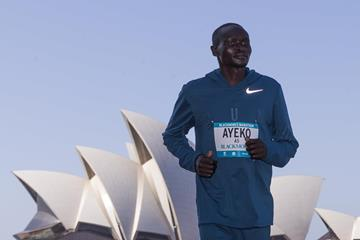 Thomas Ayeko ahead of the Sydney Marathon (organisers)