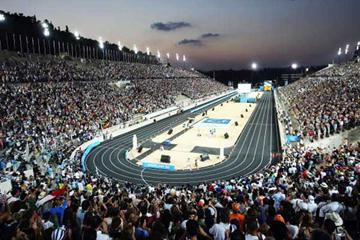 Panathinaiko Stadium at the end of the Marathon (Getty Images)