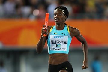 Shaunae Miller-Uibo at the IAAF/BTC World Relays Bahamas 2017 (Getty Images)