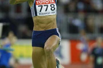 Yamile Aldama (SUD) takes silver in Budapest's Triple Jump final (Getty Images)