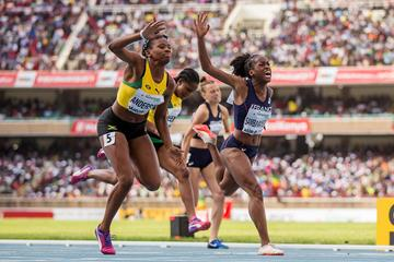 Brittany Anderson winning the 2017 world U18 title (Getty Images)
