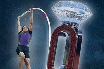 Renaud Lavillenie and Diamond Race Trophy (DL AG)