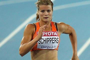 Dafne Schippers of the Netherlands in the 200m (Getty Images)