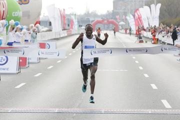 Gilbert Masai wins the Warsaw Half Marathon (Organisers)
