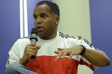 Ato Boldon at the press conference ahead of the IAAF World U20 Championships Bydgoszcz 2016 (Getty Images)