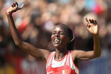 Rose Chelimo wins the marathon at the IAAF World Championships London 2017 (Getty Images)