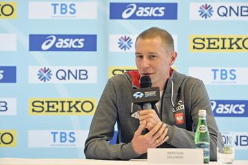 Krystian Zalewski at the press conference for the World Athletics Half Marathon Championships Gdynia 2020 (Getty Images)