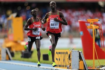 Leonard Bett wins the 2000m steeplechase at the IAAF World U18 Championships Nairobi 2017 (Getty Images)