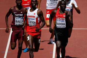 David Rudisha in the 800m heats at the IAAF World Championships, Beijing 2015 (Getty Images)