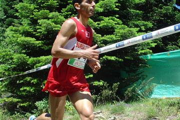 Ahmet Arslan at the 2011 European Mountain Running Championships (Organisers)