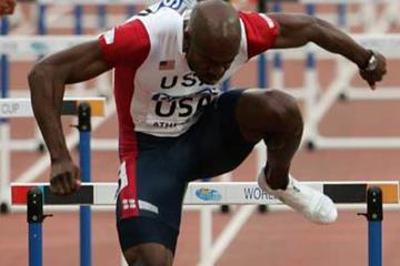 Allen Johnson - 12.96 at the 2006 World Cup in Athens (Getty Images)