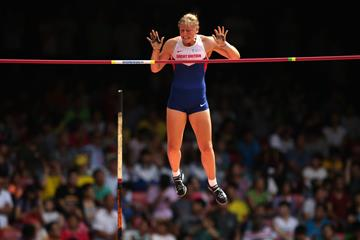 Holly Bradshaw in the pole vault at the IAAF World Championships (Getty Images)