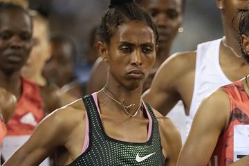 Ethiopian middle-distance runner Alemaz Teshale Samuel (AFP / Getty Images)