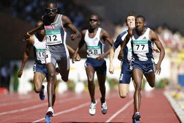 Youssef Saad Kamel of Bahrain wins the 800m at the World Athletics Final (Getty Images)