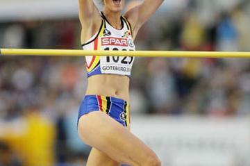 Tia Hellebaut's surprise win in Gothenburg (Getty Images)