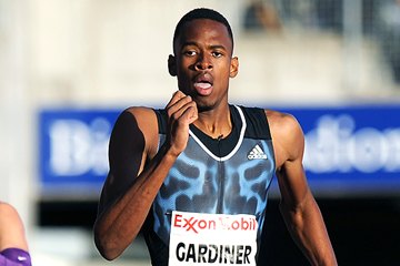 Steven Gardiner of The Bahamas in action in the 400m (Mark Shearman)