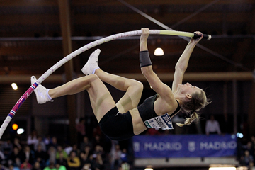 Anzhelika Sidorova, winner of the pole vault at the IAAF World Indoor Tour meeting in Madrid (Jean-Pierre Durand)