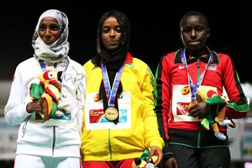 Girls' 1500m podium at the IAAF World Youth Championships, Cali 2015 (Getty Images)