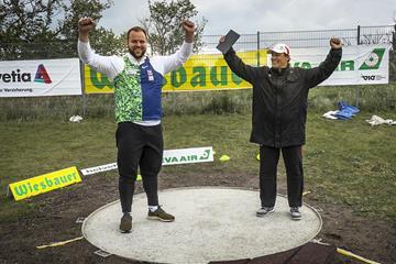 Weisshaidinger and coach Gregor Hogler in Schwechat-Rannersdorf ( ÖOC (Austrian Olympic Committee))