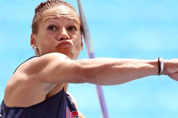 Hyleas Fountain in the Javelin Throw of the Heptathlon (Getty Images)
