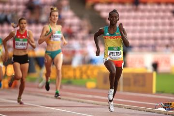 Diribe Welteji in the 800m at the IAAF World U20 Championships Tampere 2018 (Getty Images)