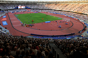 Athletics action at London's Olympic Stadium (AFP / Getty Images)