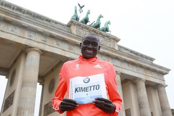 Dennis Kimetto ahead of the 2014 BMW Berlin Marathon  (organisers / www.photorun.net)