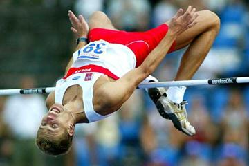 Poland's Aleksander Walerianczyk wins the European U23 High Jump (Mark Shearman)