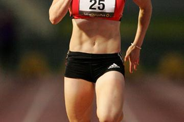 Sally McLellan competing at the 2008 Sydney Track Classic (Getty Images)