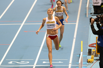 Angelika Cichocka in the 800m at the IAAF World Indoor Championships Sopot 2014 (AFP / Getty Images)