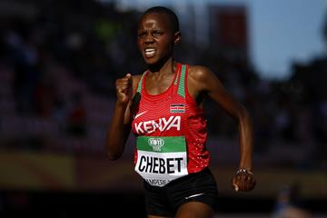 Beatrice Chebet on her way to winning the world U20 5000m title (Getty Images)