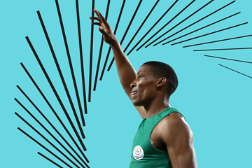South African long jumper Ruswahl Samaai (Getty Images)