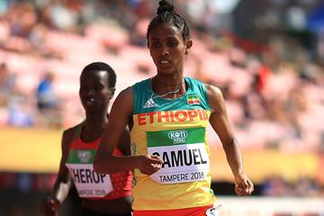 Alemaz Samuel in the 1500m at the IAAF World U20 Championships Tampere 2018 (Getty Images)
