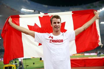 High jump winner Derek Drouin at the IAAF World Championships, Beijing 2015 (Getty Images)