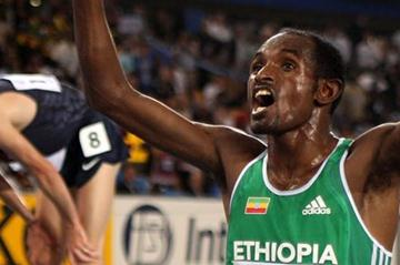 Ibrahim Jeilan celebrates winning the 10,000m gold medal in Daegu (Getty Images)