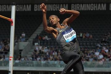Mutaz Essa Barshim at the 2016 IAAF Diamond League meeting in Birmingham (Jean-Pierre Durand)